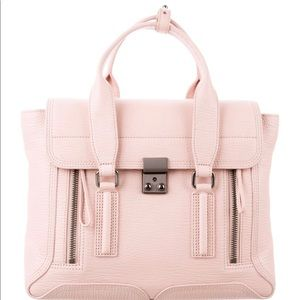 3.1 Philip Lim Leather Pashli Satchel in petal